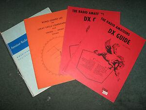 HAM-RADIO-AMATEUR-Books-ARRL-Log-Great-Circle-Computation-DX-Guide-USED-Lot-of-4