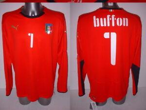 quality design b6928 dd1b9 Details about Italy Italia Shirt Puma Adult XXL Buffon Soccer Football New  Jersey Maglia BNWT