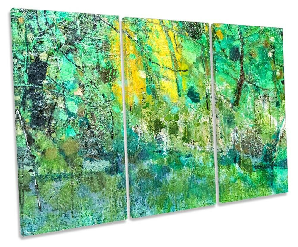 Grunge Abstract Grün TREBLE CANVAS WALL ARTWORK Print Art