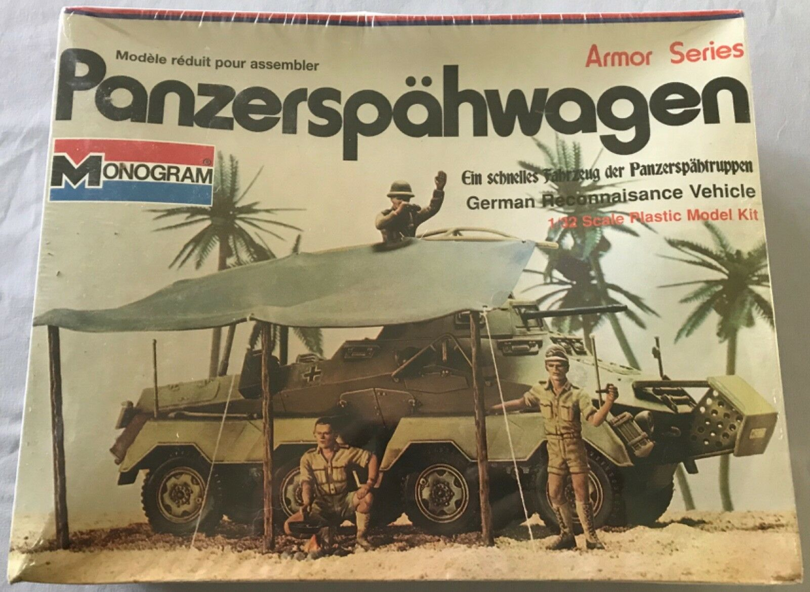 Monogram Panzerspahwagen German Reconnaisance Vehicle 1 32 FS 'Sullys Hobbies'