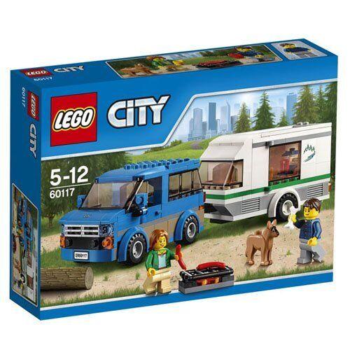 LEGO City Van & Wohnwagen mit 2 Minifiguren Konstruktions Kinderspiele Spielzeug