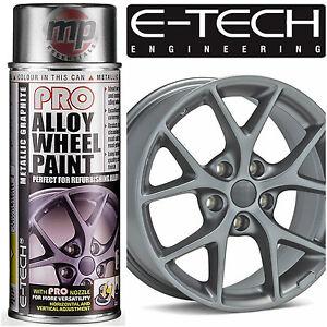 E-Tech-PRO-Alloy-Wheel-Refurbish-amp-Refresh-Spray-Paint-Metallic-Graphite-Grey