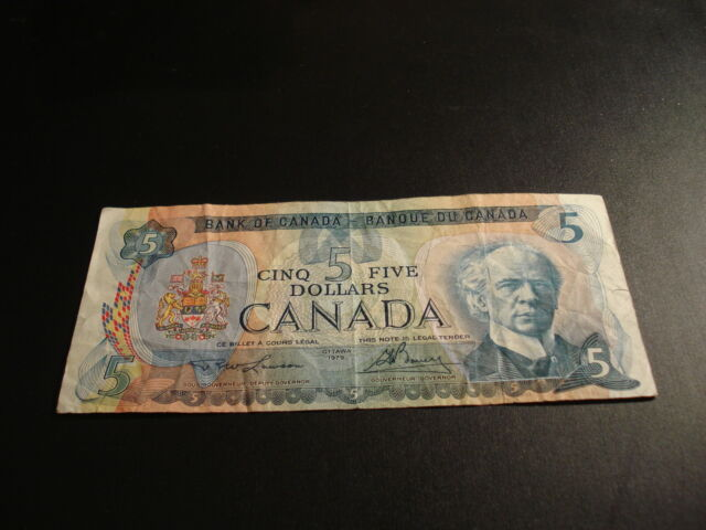 1979 - Bank of Canada $5 note - five dollar bill - 30242432898
