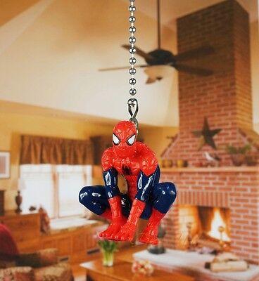 Marvel Superhero Amazing Spider-Man Ceiling Fan Pull Light Lamp Chain Decor K192