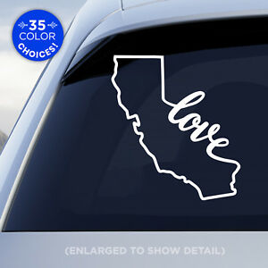 California-State-034-Love-034-Decal-CA-Love-Car-Vinyl-Sticker-add-heart-to-a-city