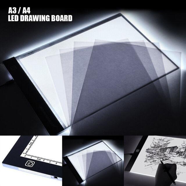 LED A3 Lichttisch Leuchttisch Leuchttablett dimmbar Leuchtplatte Grafiktablett