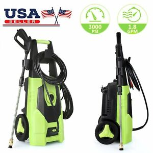 3000-PSI-1-8GPM-Electric-Pressure-Washer-High-Powerful-Water-Cleaner-Machine-Kit