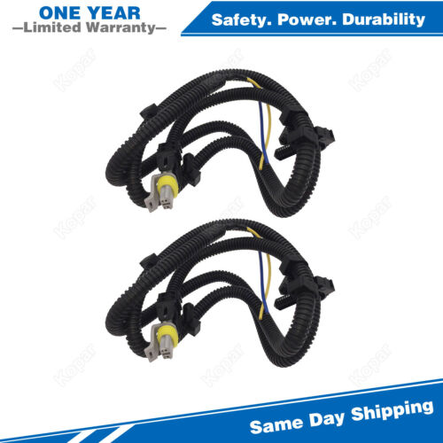 2PCS Front ABS Sensor Harness For 05-09 Cadillac SRX STS Buick LaCrosse Uplander