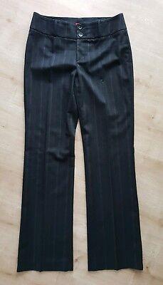 *top* Esprit Anzug Hose Schwarz Braun Nadelstreifen Gr 34 Businesshose Stoffhose Feines Handwerk