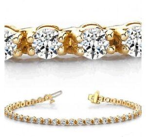 "Vintage $6000 9ct Oval Ruby /& Diamond 18k Yellow Gold Over 7/"" Tennis Bracelet"