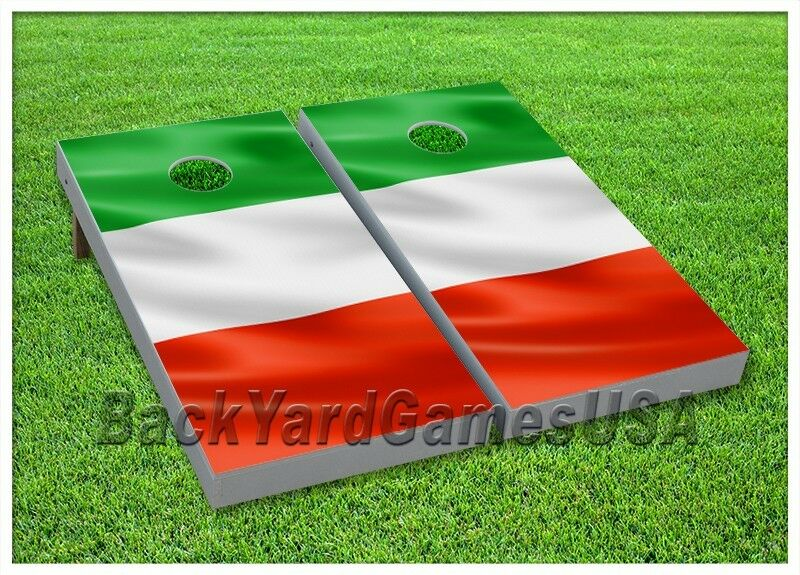 CORNHOLE BEANBAG TOSS GAME w Bags 24X48 Italian Flag Hispanic  Mexican Flag 0005  good quality