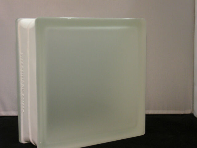 glasbaustein weiß matt satiniert 2 seitig milchglas  1 sorte  19x19x8 BM19SAT