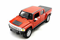 Maisto 2009 Hummer H3t Pick Up Track Red 1/26 Diecast Car In Box 31286or