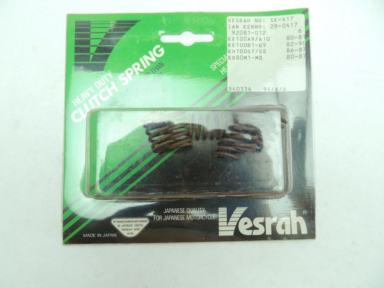 Vesrah Complete Clutch Kit for Kawasaki KM100 1976-1981