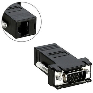 VGA-Male-to-Network-Adaptor-Extend-Video-over-Network-Cat5e-Ethernet-RJ45-VGA