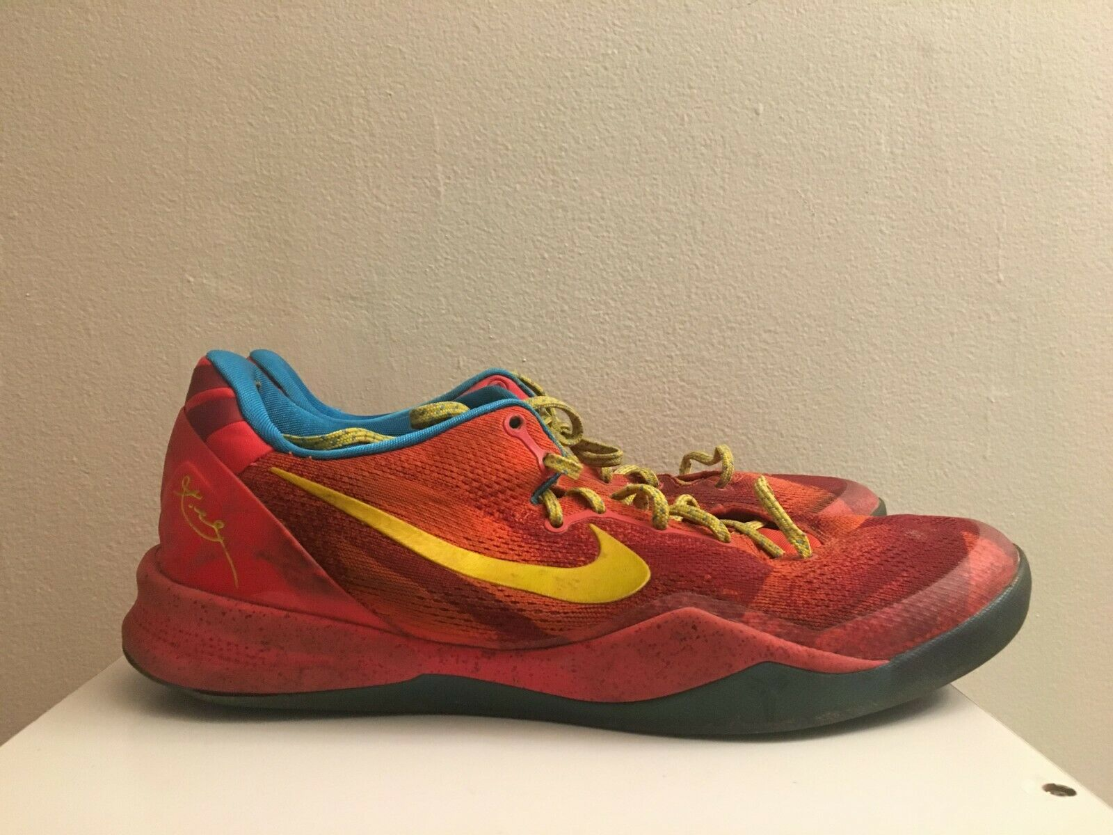 2014 NIKE KOBE VIII 8 SYSTEM YOTH YEAR OF THE HORSE RED CITRON blueE YELLOW 13