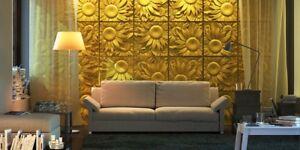 Bien Informé Sunflowers - Quality Abs Plastic Press Mold Art 3d Decor Panels Wall Stone Soulager La Chaleur Et Le Soleil