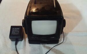 Image Is Loading Vintage Sylvania Radio Tv Black Electric Battery Plastic