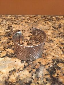 4a9d42eb2b2 Details about BEAUTIFUL INDONESIA BA .925 STERLING SILVER WIDE BASKET WEAVE  CUFF BRACELET