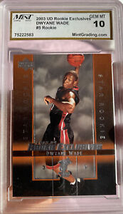 2003-UPPER-DECK-ROOKIE-Dwayne-Wade-EXCLUSIVES-10-GEM-MINT-5-HOT-MIAMI-HEAT