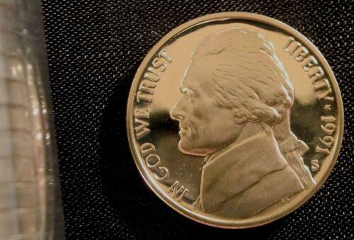 1991-S San Francisco Mint Jefferson Nickel Proof