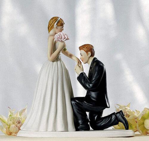 Romantic Resin Wedding Cake Topper Figure Bride /& Groom Couple Bridal Decor New