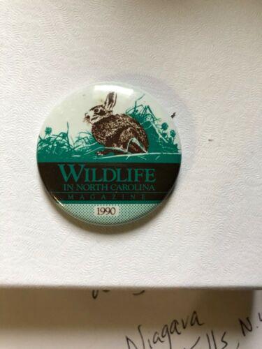 Wildlife in North Carolina Magazine State Fair Pin—1990 Rabbit