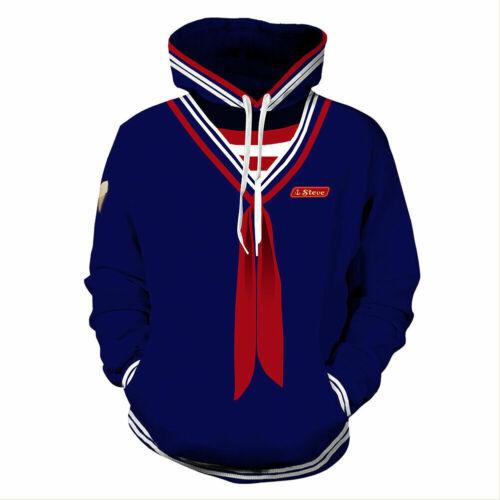 Stranger Things Scoops Ahoy Steve Cosplay Costume Pullover Sweatshirt Hoodie