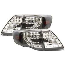 IPCW 2009-2010 Toyota Corolla [LED] Black Tail Lights Rear Lamps Set LEDT-2033B2