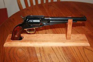 16-034-Solid-Cherry-Wood-Cap-amp-Ball-SAA-or-DA-Revolver-Pistol-Display-Gun-Stand