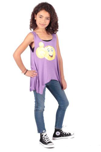 Emoji Casual Sleeveless  Tank Top Scoop Neck Loose Fit  Emoji