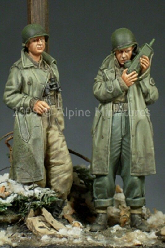 ALPINE MINIATURES, 35095, WWII US Army Officer set (2 fig.set), SCALE 1 35