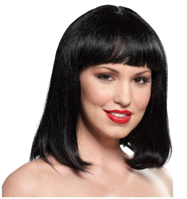 Synthetic Role play Reenactment or Crossdresser Costume Short Black Wig d74f4c4dbd0f