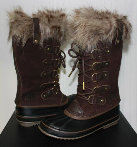 Sorel Women/'s Joan of Arctic waterproof boots Cattail Brown New With Box!