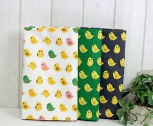 Happy-Yellow-Chicks-100-Cotton-Oxford-Fabric-BY-THE-YARD-Animal-Chick-JC4-72