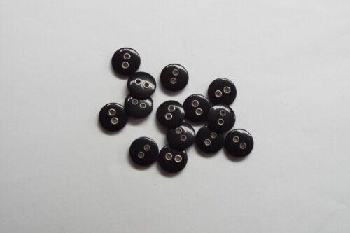 10pc 11mm Matt Black Metal Hole Shirt Cardigan Knitwear Children Button 1144