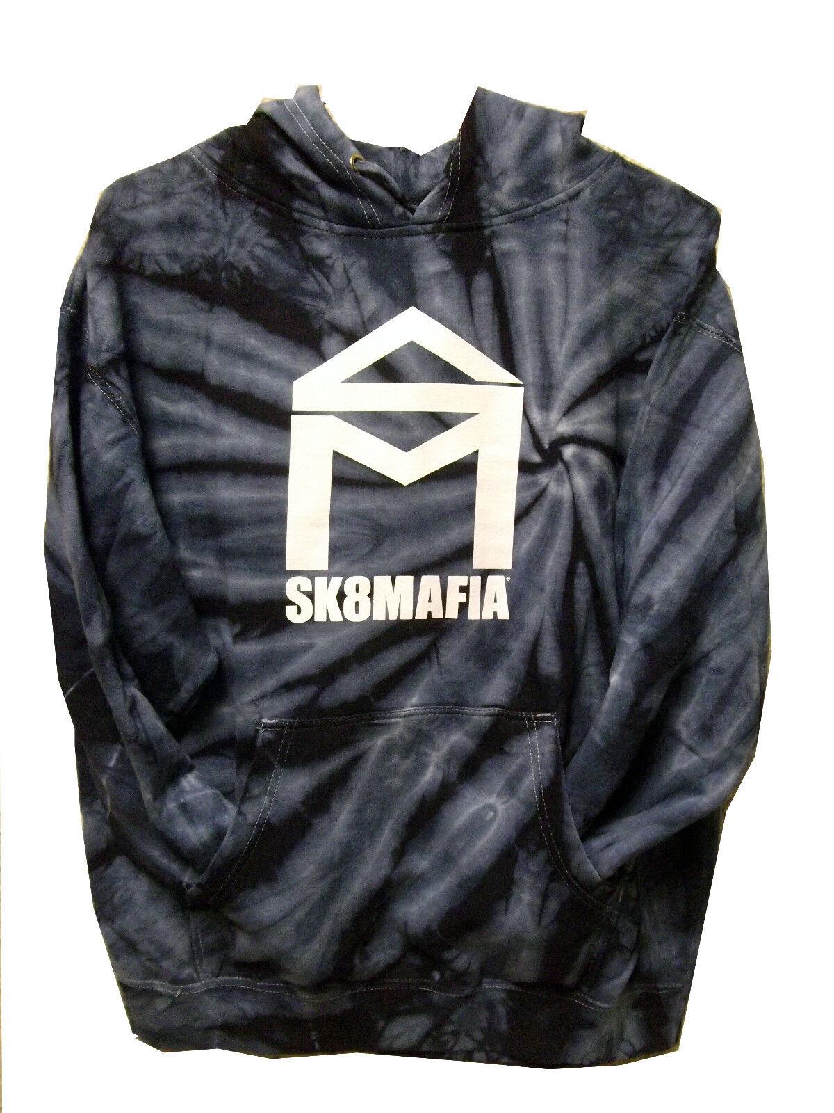 Brand New Sk8 mafia hoody(Tie-Dye bluee)