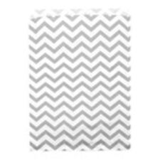500 Silver Chevron Merchandise Retail Paper Party Favor Gift Bags 4 X 6 Tall