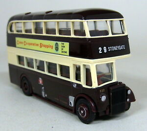 EFE-1-76-Scale-15901-Leyland-PD1-Leicester-City-Co-op-Shopping-Diecast-Model-Bus