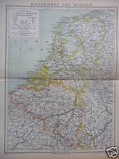 Orig. Landkarte, Niederlande und Belgien, 1882