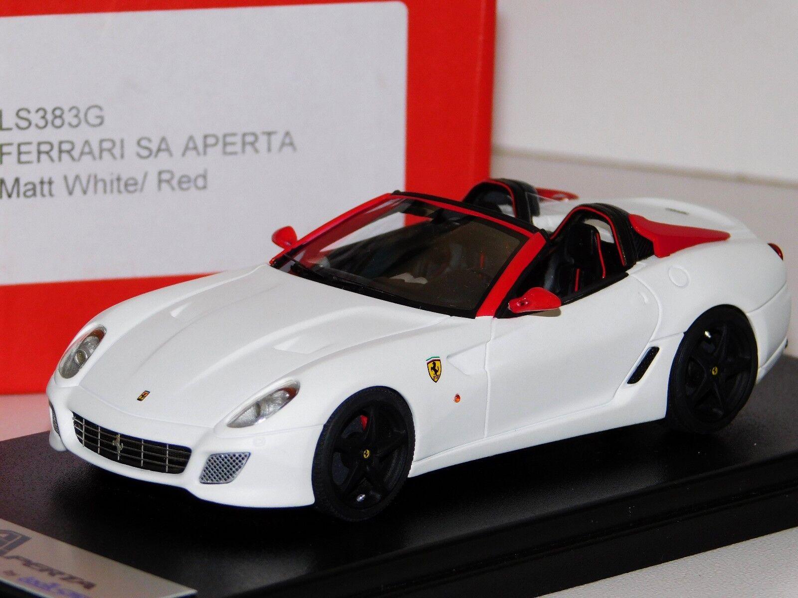 Ferrari SA Aperta Matt blanc rouge Looksmart LS383G engourdie 20 Lim 1 50 1 43