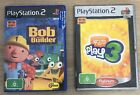 Ps2 Playstation 2 Game Bundle. Eye Toy, Bob The Builder. Play 3 Tested Working