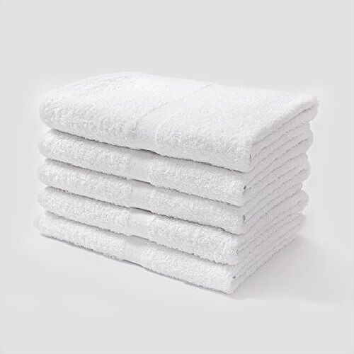 24 White Dove Bath Towel 24x48 100 Cotton 10s Cam Border Hotel