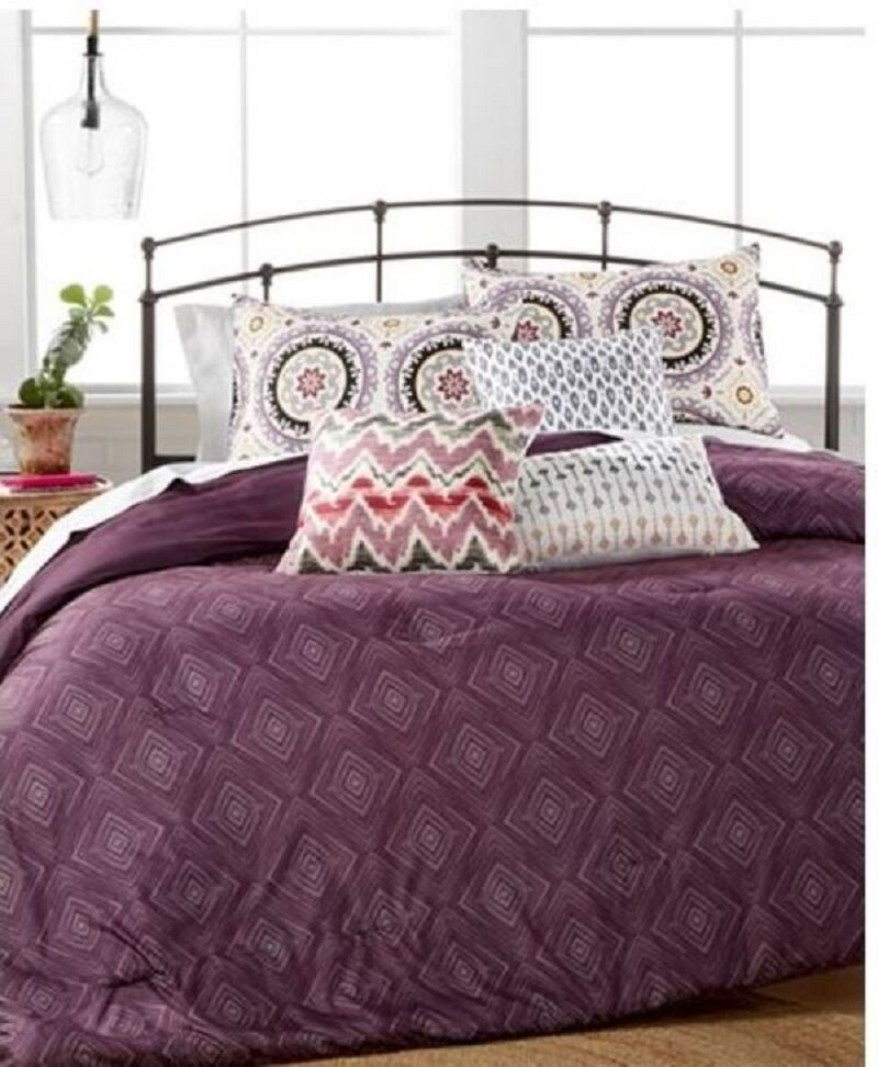 Hallmart Collectibles Kingston 6 Piece QUEEN Comforter Set lila  150 D1718