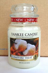 YANKEE CANDLE CAMPFIRE TREAT 22 OZ JAR SUMMER MARSHMALLOW ...