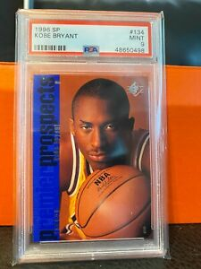 1996-SP-Basketball-Kobe-Bryant-ROOKIE-RC-134-PSA-9-LAKERS-HOT