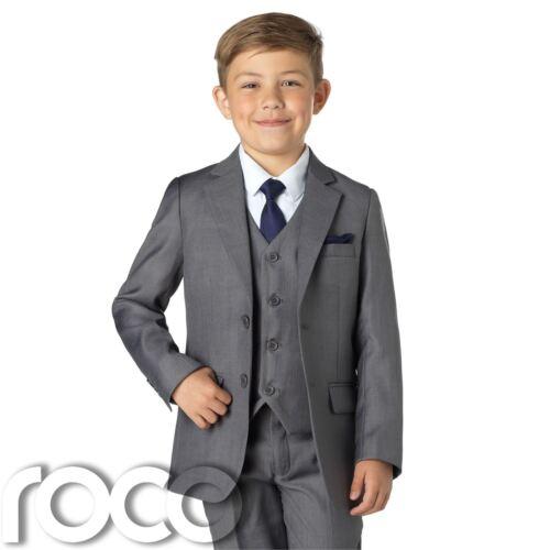 Boys Wedding Outfit Grey Slim Fit Suit Boys Grey Suits Grey Suit