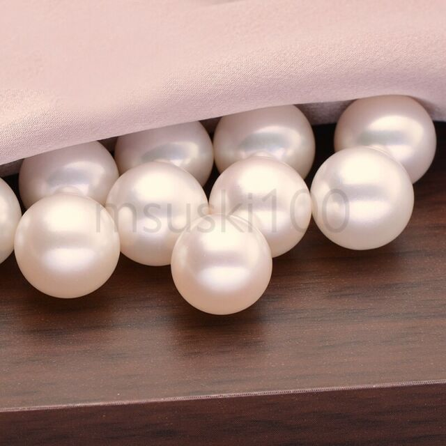 6-7mm Ivory White Half-drilled Rice Oval Freshwater Pearls AAA Jewellery Making