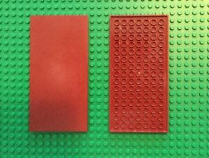 LEGO LOT OF 2 NEW DARK RED 8 X 16 TILES FLAT SMOOTH 2.5 X 5 INCHES PARTS