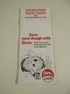 Details about Vintage 1971 Lion Southeastern United States Road Map ~ Box B